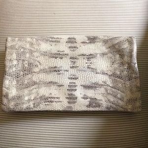 Ann Taylor Python Clutch Wallet